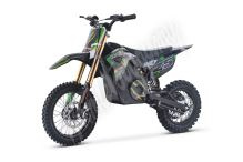 Elektrická motorka MiniRocket Coyote 1300W 48V zelená kola 12/10
