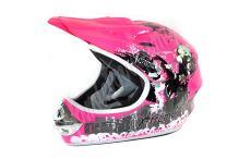 Dětská cross helma Xtreme - růžová