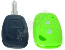 481RN103gre Silikonový obal pro klíč Renault, 2-tlačítkový, zelený
