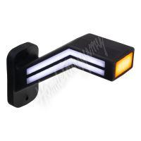 trl191L Poziční LED (tykadlo) gumové levé - červeno/bílo/oranžové, 12-24V,ECE