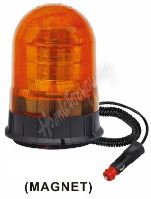 wl87 x LED maják, 12-24V, 18x3W, oranžový magnet, ECE R65