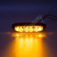 911-x6 PROFI výstražné LED světlo vnější, oranžové, 12-24V, ECE R65