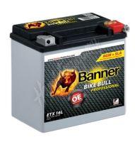 Motobaterie Banner BIKE BULL AGM PRO 51601, ETX 16L, 12V 19Ah 325A