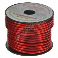 31161 Kabel 6 mm, červeně transparentní, 25 m bal