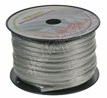 31122 Kabel 20 mm, stříbrně transparentní, 25 m bal