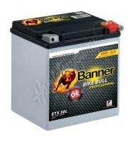 Motobaterie Banner BIKE BULL AGM PRO 53001, ETX 30L, 12V 26Ah 400A = YIX30L