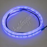 LFT60slimblu LED silikonový extra plochý pásek modrý 12 V, 60 cm