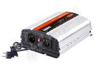 35pswCH612 Autonabíječka 12V/10A + měnič sinus 600W 12/230V, UPS