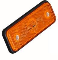 kf661Eora Boční obrysové LED světlo, 12-24V, oranžové, obdélník, ECE R91