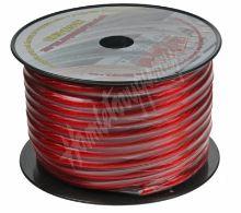 31121 Kabel 20 mm, červeně transparentní, 25 m bal