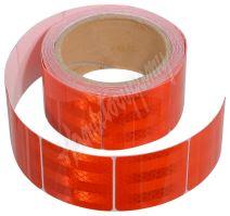 Samolepící páska reflexní dělená 5m x 5cm červená (role 5m)