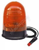 wl88 LED maják, 12-24V, 18x3W, oranžový magnet, ECE R65