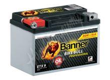 Motobaterie Banner BIKE BULL AGM PRO 50901, ETX 9, 12V 8Ah 120A = YTX9-BS