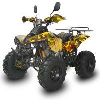 Dětská elektro čtyřkolka ATV Warrior XL 1000W 48V maskáč žlutý